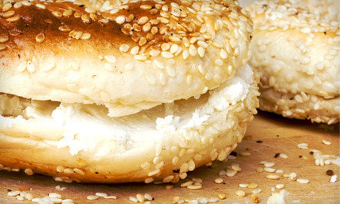 New York Bagel Café & Deli - Eastside El Paso: Bagels and Café Fare at New York Bagel Café & Deli (Half Off). Two Options Available.