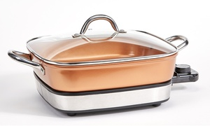 Copper Chef Removable Electric Skillet Set (4-Piece)