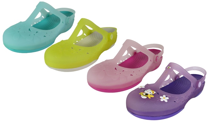 8d82f7668d2e4 ... Crocs Women s Carlie Mary Jane Flower Flat Shoes ... arrives ef9ed  e2bf2 ...