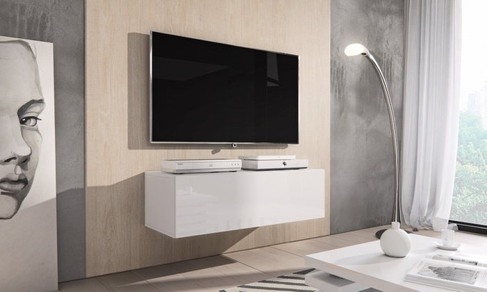 Design Hoogglans Tv Meubel.Zwevend Hoogglans Tv Meubel Groupon Goods