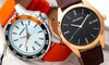 Reloj de cuero con fecha Breed