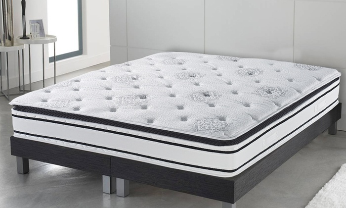 matelas somptueux ressorts et m moire de forme 30 cm. Black Bedroom Furniture Sets. Home Design Ideas