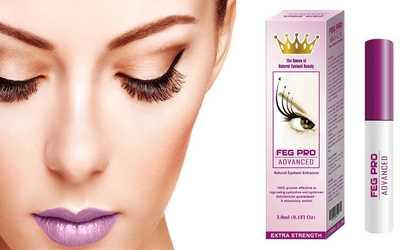 aa351855971 Shop Groupon FEG Pro Advanced Natural Eyelash Enhancer Serum (1- or 2-Pack)