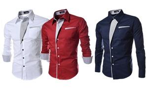 Chemises homme à col contrasté