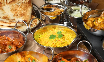 ThreeCourse Indian Meal with Naan for Up to Four at Masala Bag
