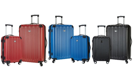 Travelers Club Expandable Spinner Luggage Set with Cup/Phone Holder (2-Piece) 3456394c-a93a-4c94-92cd-4c906d016a9e