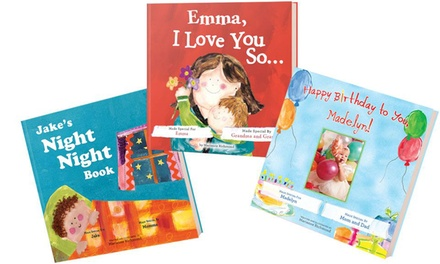 groupon daily deal - $12 for One of Three Personalized Children's Books from Put Me In The Story ($24.99 Value)