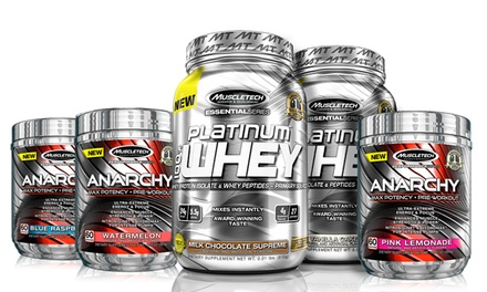 Buy 1 Get 1: Muscletech Anarchy and Free 2 lb. Platinum Whey Protein