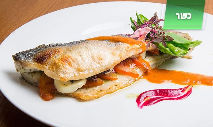 פסקדוס - פסקדוס: פסקדוס, מסעדת דגים יוקרתית כשרה למהדרין ליד גשר המיתרים: א. צהריים זוגית ב-149 ₪ בלבד! שלל דגים מפתים לבחירה, בירה ועוד