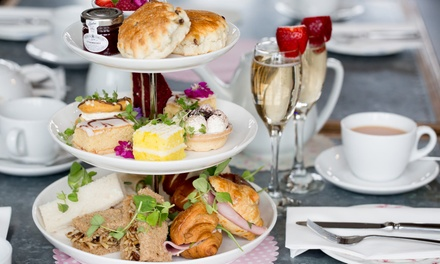 High Tea with Bubbly for Two ($34) or Four People ($68) at Meander Craft Coffee and Wine Lounge (Up to $176 Value)