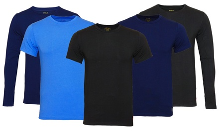 2er-Pack Ralph Lauren T-Shirt oder Langarmshirt mit Rundhalsausschnitt in der Farbe und Größe nach Wahl