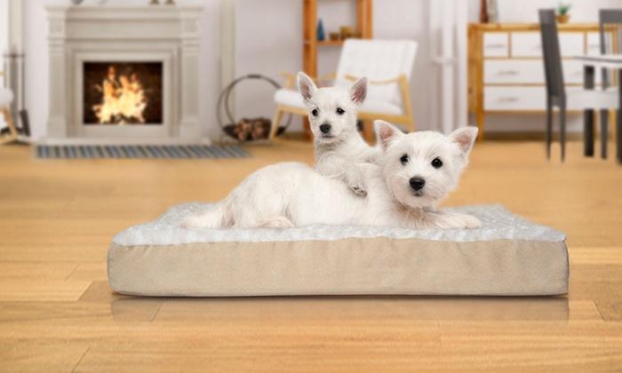 Plush Or Faux Fur Pet Mattress Groupon Goods