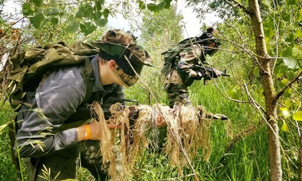 All-Day Airsoft w/Field Entry, Equipment Rental, Ammo, and Gift Cards at Fox Airsoft (Up to 54% Off). 3 Options.