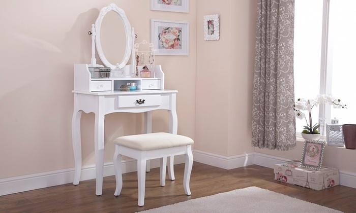 Vintage dresser with a footstool groupon - Tocadores vintage ...