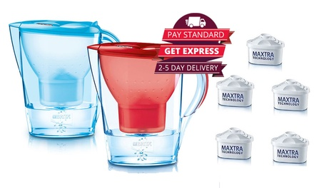 $39 for a Brita 2.4L Marella Water Filter Jug in Two Colours with Five Filters (Don't Pay $82)