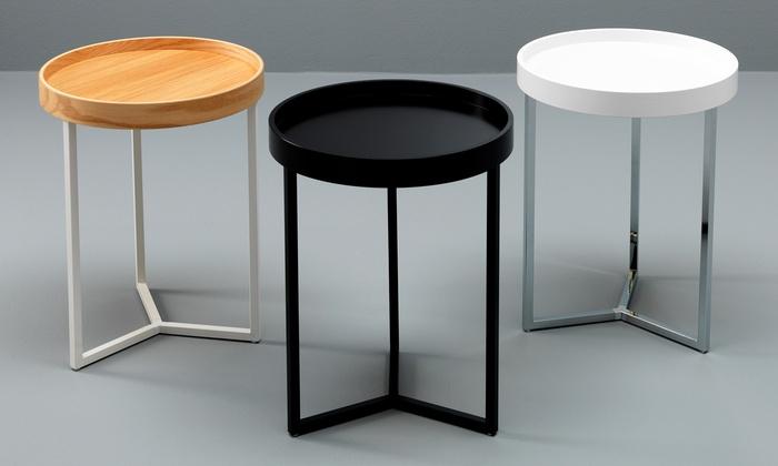 Groupon Goods Global GmbH: Tavolini Tallin o Lampang by Stones con vassoio disponibili in vari colori