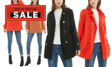 $19 for a Women's DoubleBreasted Coat Don't Pay $169.95
