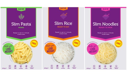 25 Pack of Slim Konjac Pasta, Noodles or Rice 200g