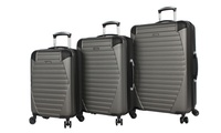 Deals on Ciao Phoenix Upright Spinner Hardside Luggage Set (3-Piece)
