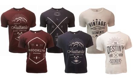 Pack de 3 T-shirt imprimés pour homme
