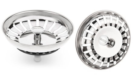 One or Two Savisto Stainless Steel Pop-Up Waste Plugs