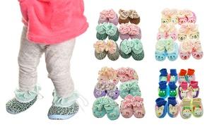 Baby Slipper Socks & Booties (6-Pack)