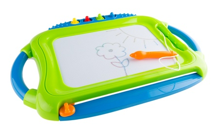 Magnetic Drawing Board With Pen, Eraser, Stamps