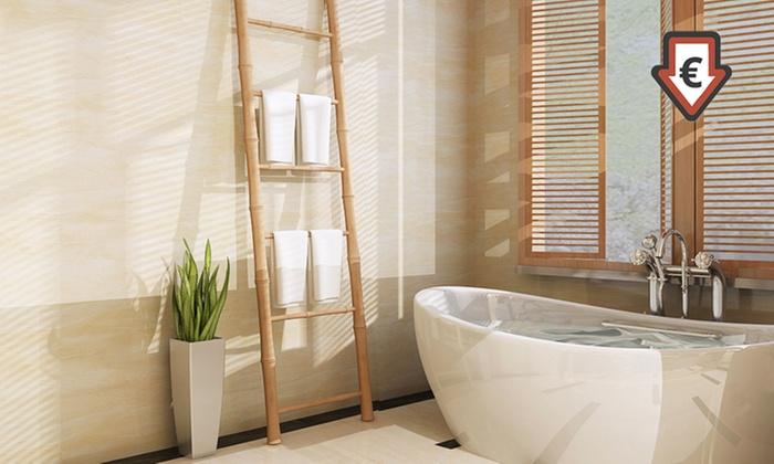 Escalera para toallas de madera de bamb groupon goods - Escalera de bambu ...