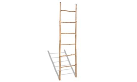 Escalera para toallas de madera de bambú con 6 escalones Oferta en Groupon