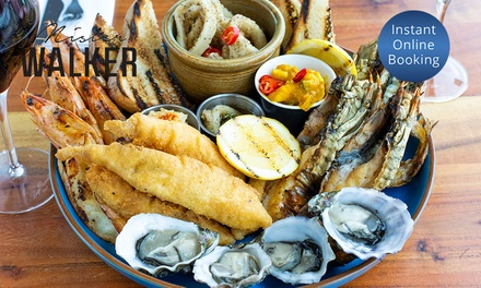 Ocean or Meat Platter with Wine for Two $59 or Four People $115 at Mister Walker Up to $174 Value
