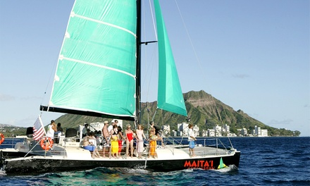 Catamaran TradeWind Sailing Trip for Two, Four, or Six from Maita`i Catamaran (Up to 51% Off)