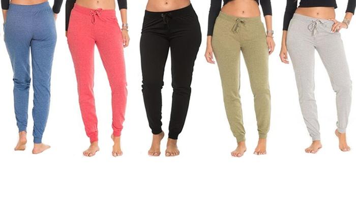 3ef1d1ab06 Coco Limon Women's Fleece Joggers (5-Pack) (Size M)