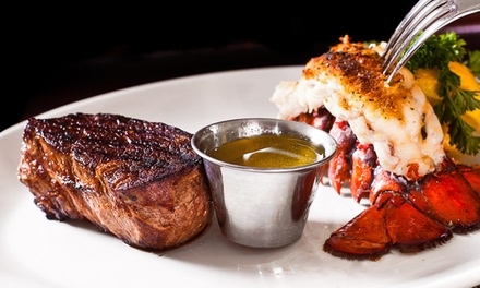 Steak, Seafood, and Chicken at Mesquite Grill Steak & Seafood (Up to 50% Off). Two Options Available.