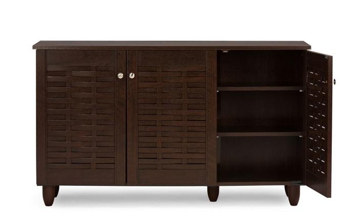 Winda Dark Brown Shoe Cabinets