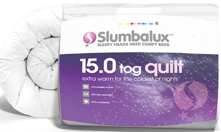 Slumbalux 15 Tog Winter Weight Duvet from £13.99