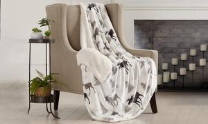 Reversible Berber Velvet Plush Throw Blanket