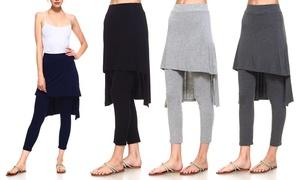 Women's Skirted Leggings. Plus Sizes Available.