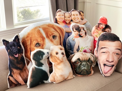 Custom Pet or Novelty Polar Fleece or Faux Mink 3D Photo Throw Pillows (Up to 69% Off). 3 Sizes Available.