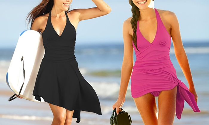 Ever Mercantile Limited: Skirted One-Piece Swimsuit: One ($19) or Two ($34)