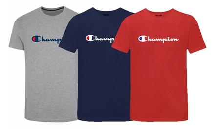 1 o 3 camisetas Champion Heritage para hombre