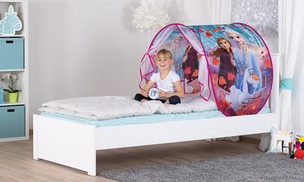 Tente de lit Disney avec lampe LED pour enfants modèle Princesse, LOL Surprise, Frozen 2, PJ Masks ou Paw Patrol