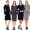 Women's Open-Shoulder Knitted Dress