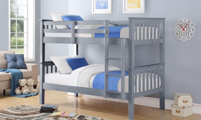 Oxford Wooden Bunk Bed with Two Optional Single Mattresses from £199