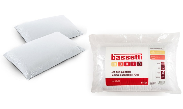 Cuscini Bassetti.Guanciali Bassetti In Fibra Groupon Goods