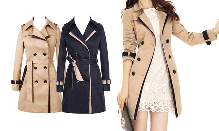 finest selection 28827 6374e Damen Trenchcoat | Groupon Goods