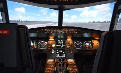 Packages of Flight on Simulator for One or Two People at Aerosim Experience Quebec (50% Off)