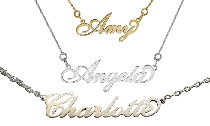 Sterling silver name necklaces australia necklace wallpaper personalised handmade name necklace by anna lou of london name necklaces silver uk necklace wallpaper gallerychitrak carrie style name necklace groupon aloadofball Gallery
