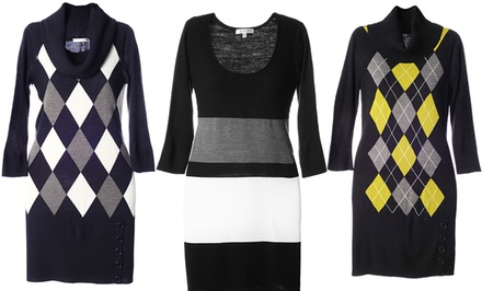 Sandra Darren Sweater Dresses. Multiple Styles Available.