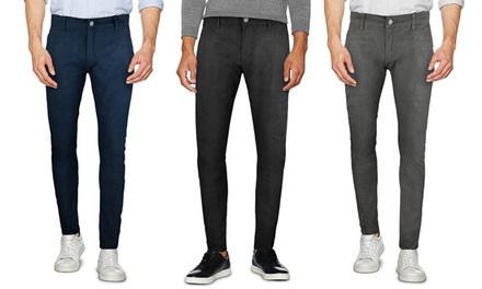 aa1e006e006a8 Pantalone da uomo fantasia pied de poule modello Business disponibile in  varie taglie e colori