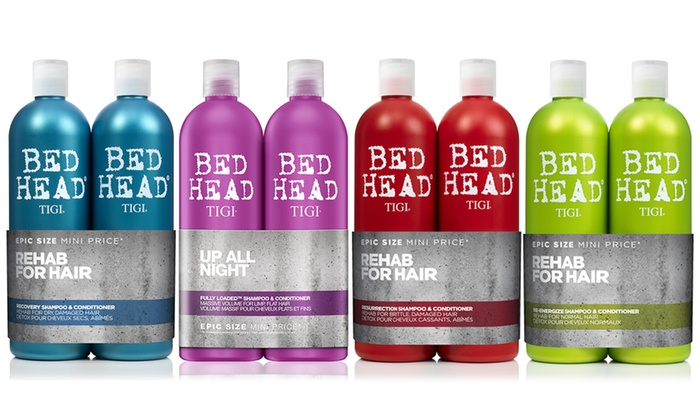 One or Two Tigi Bed Head Shampoo and Conditioner Sets 750ml from £13.98
